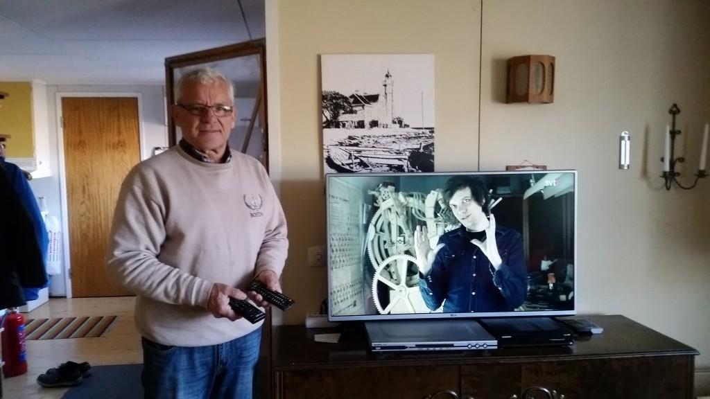 Kjell och ny TV i Granebo